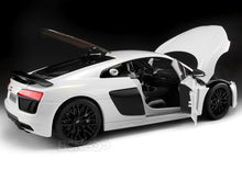 "Load image into Gallery viewer, Audi R8 V10 Plus ""Exclusive Edition"" 1:18 Scale - Maisto Diecast Model Car (White)"