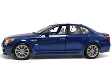 Load image into Gallery viewer, BMW M5 1:18 Scale - Maisto Diecast Model Car (Blue)