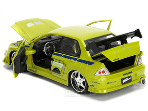 """Fast & Furious"" Brian's Mitsubishi Lancer 1:24 Scale - Jada Diecast Model Car (Green)"