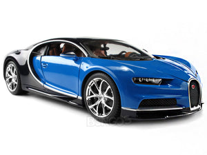 Bugatti Chiron 1:18 Scale - Bburago Diecast Model Car (Blue)