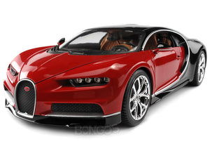 Bugatti Chiron 1:18 Scale - Bburago Diecast Model Car (Red)