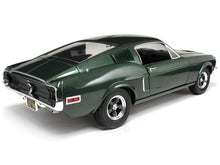 "Load image into Gallery viewer, ""BULLITT"" 1968 Ford Mustang Fastback 1:18 Scale - Greenlight Diecast Model Car (Green)"