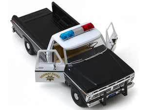 "1975 Ford F-100 ""California Highway Patrol"" Pickup 1:18 Scale - Greenlight Diecast Model Car"