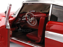 "Load image into Gallery viewer, ""Christine"" 1958 Plymouth Fury (Nighttime) 1:18 Scale - AutoWorld Diecast Model Car (Red)"