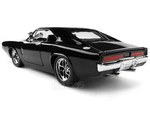 "Load image into Gallery viewer, ""Fast & Furious"" Dom's 1970 Dodge Charger R/T w/ Figure 1:24 Scale - Jada Diecast Model (Gloss Black)"