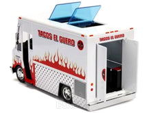 "Load image into Gallery viewer, ""Deadpool"" Taco Truck w/ Deadpool Figure 1:24 Scale - Jada Diecast Model"