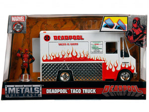 """Deadpool"" Taco Truck w/ Deadpool Figure 1:24 Scale - Jada Diecast Model"