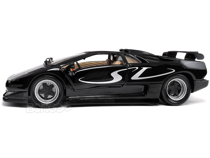 Lamborghini Diablo SV Super-Veloce 1:18 Scale - Maisto Diecast Model Car (Black)