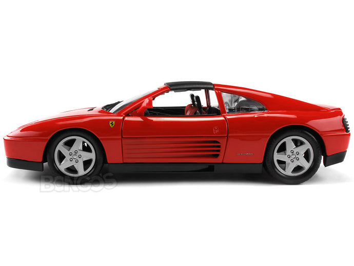 Ferrari 348TS 1:18 Scale - Bburago Diecast Model Car (Red)