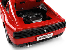 Load image into Gallery viewer, Ferrari 348TS 1:18 Scale - Bburago Diecast Model Car (Red)