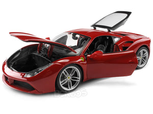 Ferrari 488 GTB 1:18 Scale - Bburago Diecast Model Car (Red)