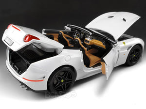 "Ferrari California T ""Signature Series"" 1:18 Scale - Bburago Diecast Model Car (White)"