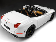 "Load image into Gallery viewer, Ferrari California T ""Signature Series"" 1:18 Scale - Bburago Diecast Model Car (White)"