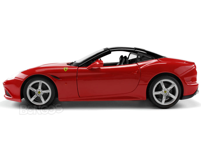 Ferrari California T 1:18 Scale - Bburago Diecast Model Car (Red Top Up)