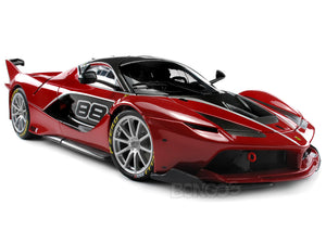 "Ferrari FXX-K #88 ""Signature Series"" 1:18 Scale - Bburago Diecast Model Car (Red)"