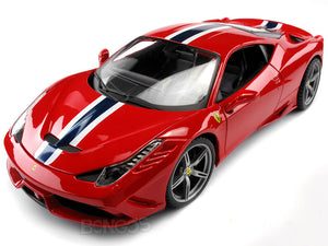 Ferrari 458 Speciale 1:18 Scale - Bburago Diecast Model Car (Red)