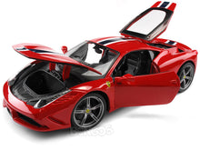 Load image into Gallery viewer, Ferrari 458 Speciale 1:18 Scale - Bburago Diecast Model Car (Red)