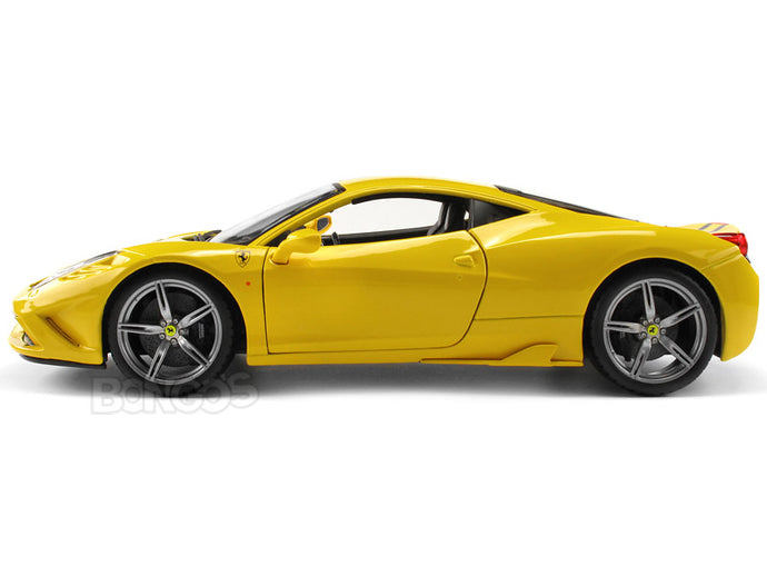 Ferrari 458 Speciale 1:18 Scale - Bburago Diecast Model Car (Yellow)