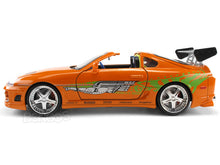 "Load image into Gallery viewer, ""Fast & Furious"" Brian's Toyota Supra 1:24 Scale - Jada Diecast Model Car (Orange)"