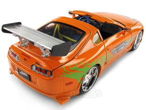 """Fast & Furious"" Brian's Toyota Supra 1:24 Scale - Jada Diecast Model Car (Orange)"