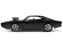 "Load image into Gallery viewer, ""Fast & Furious"" Dom's 1970 Dodge Charger R/T 1:24 Scale - Jada Diecast Model Car (Matt Black)"