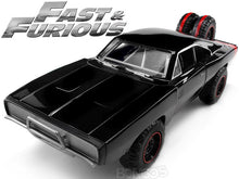 "Load image into Gallery viewer, ""Fast & Furious"" Dom's 1970 Dodge Charger R/T 1:24 Scale - Jada Diecast Model Car (Gloss Black/4x4)"