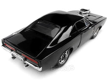 "Load image into Gallery viewer, ""Fast & Furious"" Dom's 1970 Dodge Charger R/T 1:24 Scale - Jada Diecast Model Car (Gloss Black)"