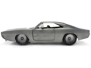 """Fast & Furious"" Dom's 1970 Dodge Charger R/T 1:24 Scale - Jada Diecast Model Car (Raw Metal)"