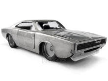 "Load image into Gallery viewer, ""Fast & Furious"" Dom's 1970 Dodge Charger R/T 1:24 Scale - Jada Diecast Model Car (Raw Metal)"
