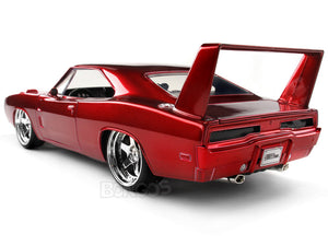 """Fast & Furious"" 1969 Dodge Charger Daytona 1:24 Scale - Jada Diecast Model Car (Red)"