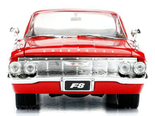 "Load image into Gallery viewer, ""Fast & Furious"" Dom's 1961 Chevy Impala 1:24 Scale - Jada Diecast Model Car (Red)"