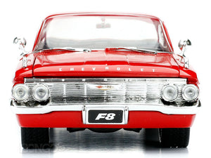 """Fast & Furious"" Dom's 1961 Chevy Impala 1:24 Scale - Jada Diecast Model Car (Red)"