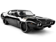 "Load image into Gallery viewer, ""Fast & Furious"" Dom's Plymouth GTX 1:24 Scale - Jada Diecast Model Car (Black)"