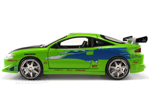"""Fast & Furious"" Brian's Mitsubishi Eclipse 1:24 Scale - Jada Diecast Model Car (Green)"