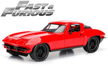 "Load image into Gallery viewer, ""Fast & Furious"" Letty's Chevy Corvette Stingray 1:24 Scale - Jada Diecast Model Car (Red)"