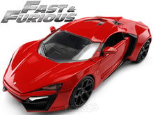 "Load image into Gallery viewer, ""Fast & Furious"" Furious 7 - Lykan Hypersport 1:24 Scale - Jada Diecast Model Car (Red)"