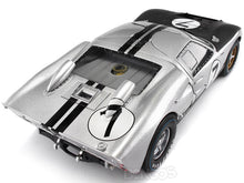 Load image into Gallery viewer, 1966 Ford GT-40 (GT40) Mk II #7 Le Mans Hill/Muir 1:18 Scale - Shelby Collectables Diecast Model Car (Silver)