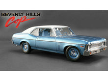 "Load image into Gallery viewer, ""Beverly Hills Cop"" 1970 Chevy Nova II 1:18 Scale - GMP Diecast Model Car (Blue)"