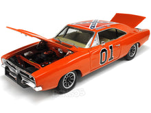"Load image into Gallery viewer, 1969 Dodge Charger R/T Dukes of Hazzard General Lee ""Elite"" 1:18 Scale - AutoWorld Diecast Model Car"
