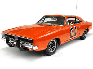"1969 Dodge Charger R/T Dukes of Hazzard General Lee ""Elite"" 1:18 Scale - AutoWorld Diecast Model Car"