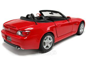 Honda S2000 Convertible 1:18 Scale - Maisto Diecast Model Car (Red)