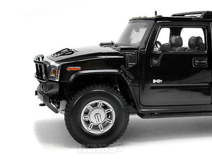 Hummer H2 SUV 1:18 Scale - Maisto Diecast Model Car (Black)