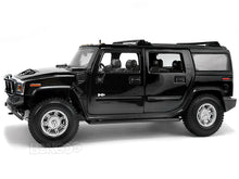 Load image into Gallery viewer, Hummer H2 SUV 1:18 Scale - Maisto Diecast Model Car (Black)