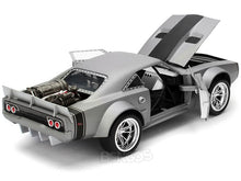 "Load image into Gallery viewer, ""Fast & Furious"" Dom's ""Ice"" Dodge Charger R/T 1:24 Scale - Jada Diecast Model Car (Silver)"