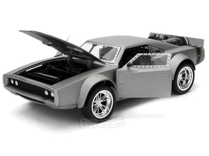 """Fast & Furious"" Dom's ""Ice"" Dodge Charger R/T 1:24 Scale - Jada Diecast Model Car (Silver)"