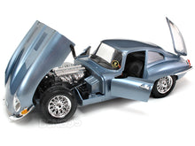 Load image into Gallery viewer, 1961 Jaguar E-Type Coupe 1:18 Scale - Bburago Diecast Model Car (Lt.Blue)