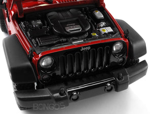Jeep Wrangler JK Safari 1:18 Scale - Maisto Diecast Model Car (Red)