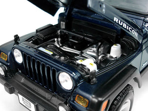 Jeep Wrangler TJ Rubicon 1:18 Scale - Maisto Diecast Model Car (Blue)
