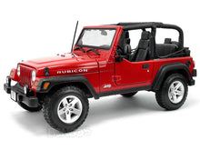 Load image into Gallery viewer, Jeep Wrangler TJ Rubicon 1:18 Scale - Maisto Diecast Model Car (Red)