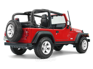 Jeep Wrangler TJ Rubicon 1:18 Scale - Maisto Diecast Model Car (Red)